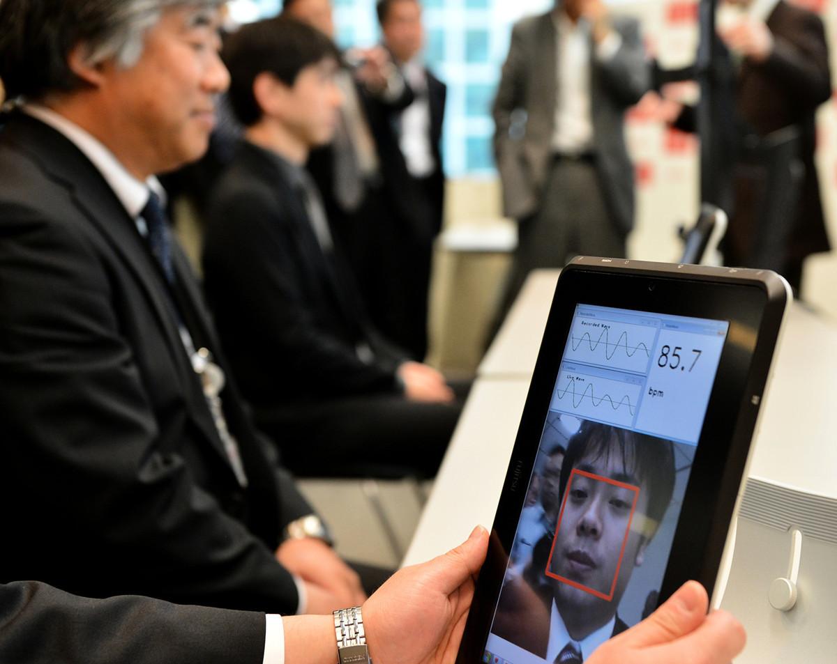 圖為人臉識別系統。 (YOSHIKAZU TSUNOGetty Images)