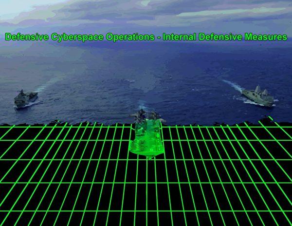 2020年4月9日,與兩棲攻擊艦美利堅號(LHA 6)一起運作的海軍陸戰隊第31遠征隊,近期採用一種網絡安全功能,確保與友軍的網絡融合受到保護,並可以偵測敵方的潛在威脅。(美國海軍陸戰隊)