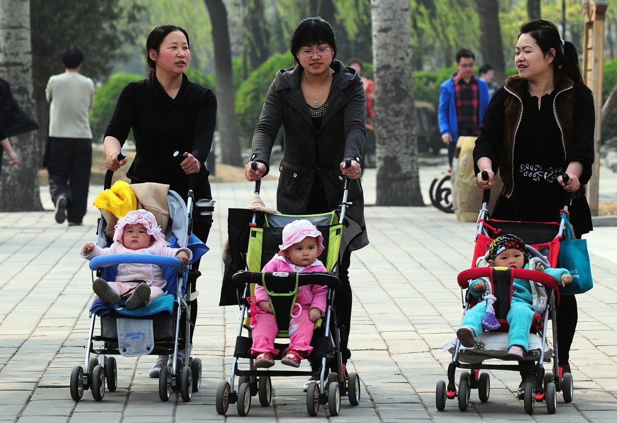 中共推遲公佈2020年的出生人口數據。(FREDERIC J. BROWN/AFP/Getty Images)