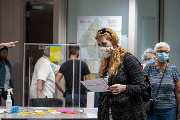 9月18日,美國維珍尼亞州開始美國大選的早期親臨投票。 (Tasos Katopodis/Getty Images)
