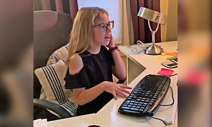 母親居家辦公超忙碌 八歲童精湛模仿成網紅(影片)