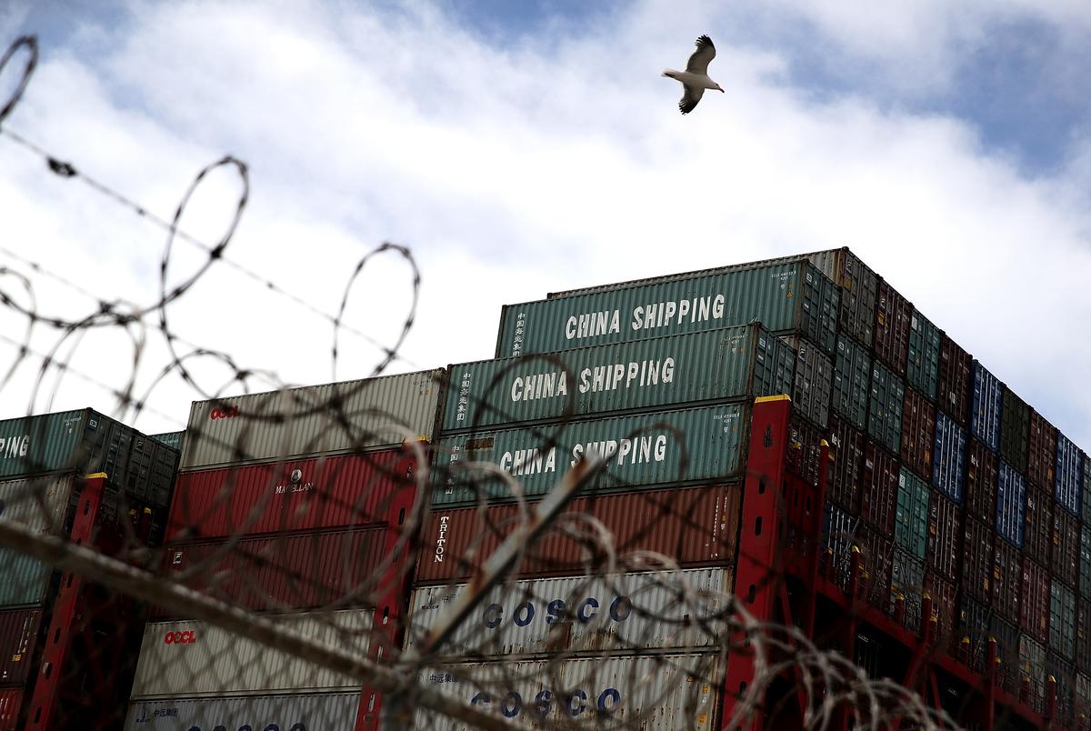 美中貿易戰升級,兩國8月23日同時對價值160億美元的商品互徵關稅。圖為示意照。(AFP)