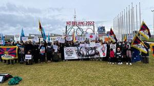 抵制北京冬奧|澳五大城市舉辦抗議集會