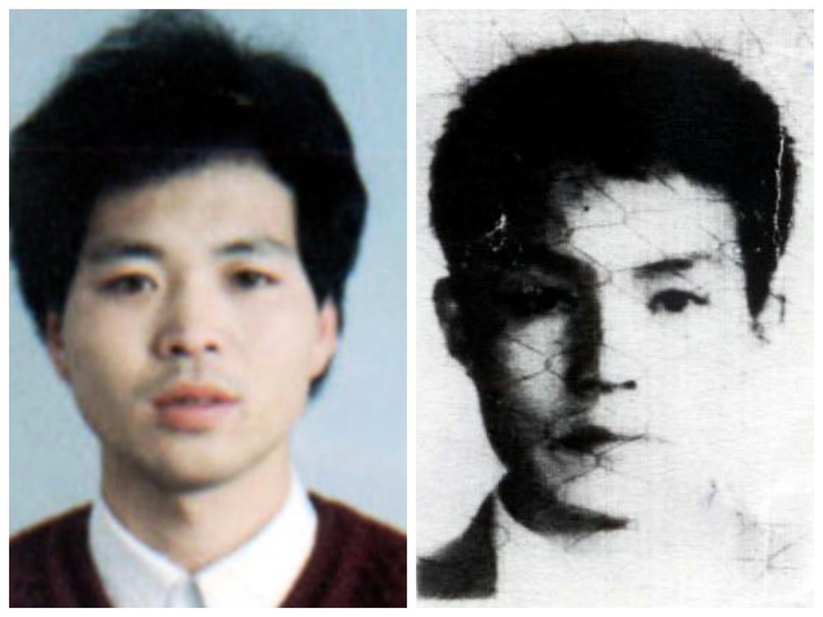 被迫害致死的參與長春電視插播的法輪功學員劉海波(左)和侯明凱。(明慧網)