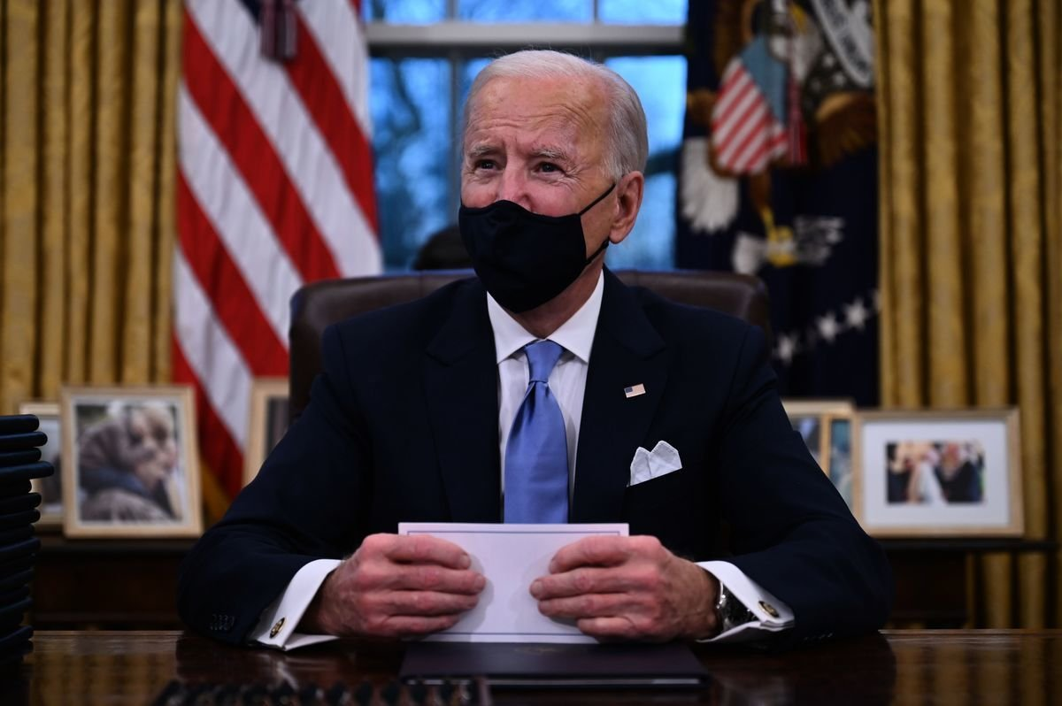 美國總統拜登將在2021年1月25日簽署「購買美國貨」行政令。拜登資料照。(JIM WATSON/AFP via Getty Images)