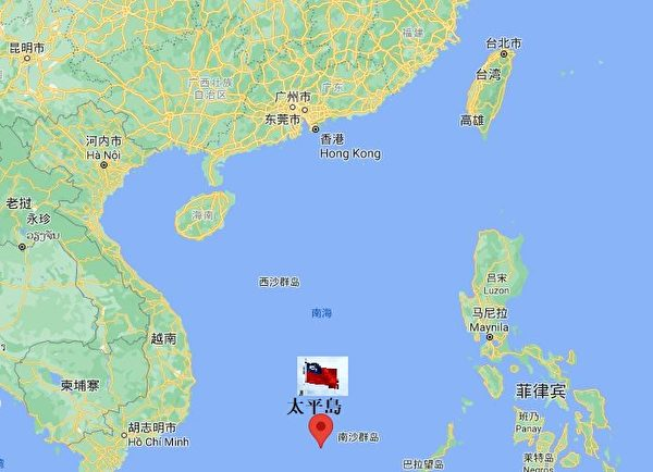 南海太平島(谷歌地圖)