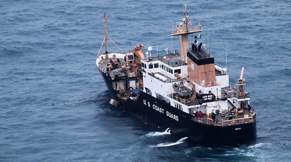 美國為了對抗中共擴張海權,派遣海岸警衛隊到西太平洋海域,圖為海岸警衛隊的快艇。(HO/Honduran Army/AFP)