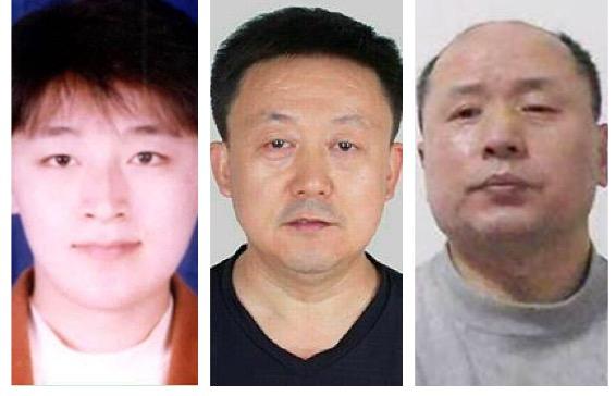 (從左至右)遭受迫害的英語教師宋彥群、雷達工程師馬振宇,被迫害致死的航空工程師胡林。(明慧網)