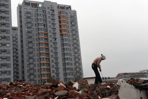 內部消息稱,日前北京已禁止黨員幹部拋售房產。評論稱,中國樓市面臨崩盤。(Getty Images)