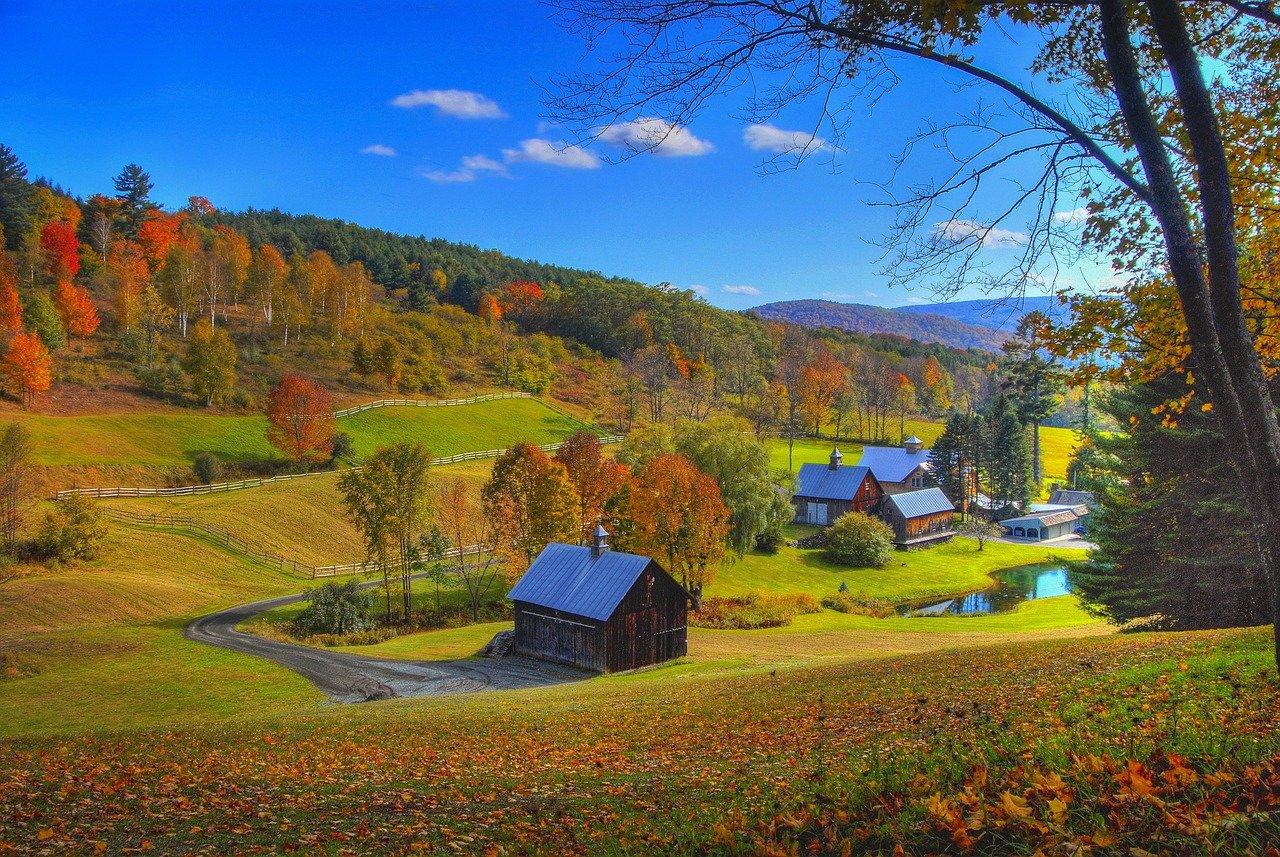 本故事的背景,佛蒙特州(Vermont)的鄉野。(pixabay)