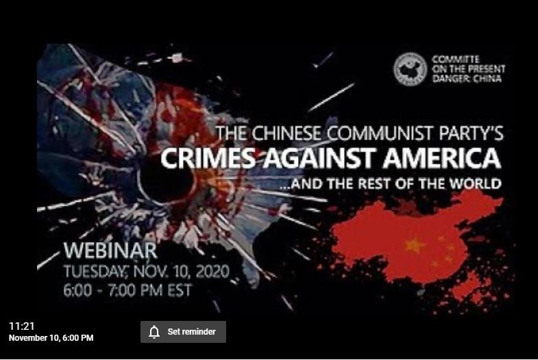 美國外交智囊論壇:中共對美國及世界的犯罪。(網絡截圖)