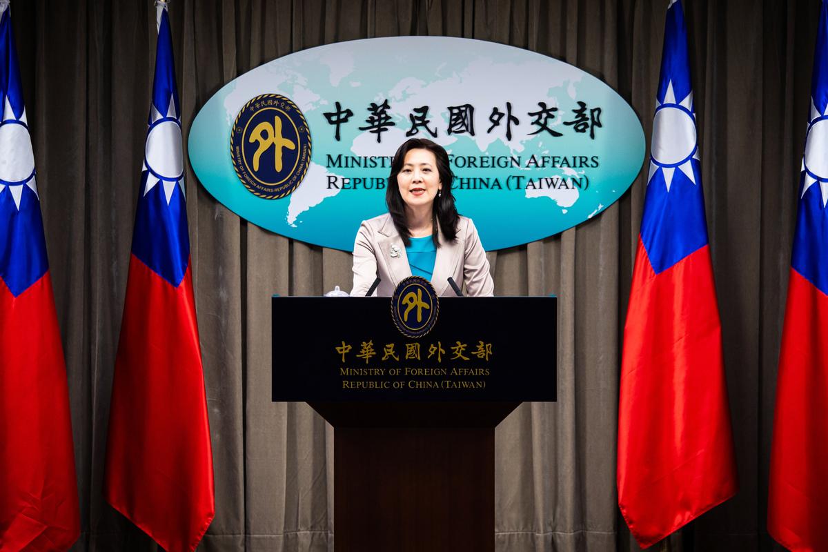 台灣外交部發言人歐江安資料照。(陳柏州/大紀元)