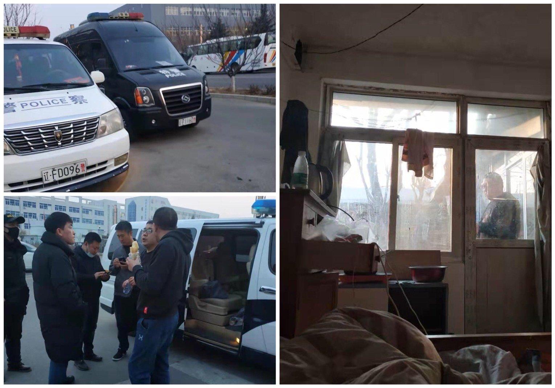 中共兩會將於3月初召開,連日來不斷傳出訪民被北京警察和地方政府人員攔截後帶回原籍「維穩」。(受訪者提供/大紀元合成)