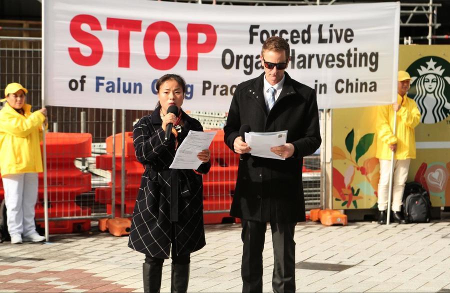 國際反酷刑日前 紐國法輪功舉行反迫害集會