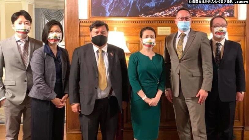 台灣駐美代表見立陶宛議員 分享對抗霸凌經驗