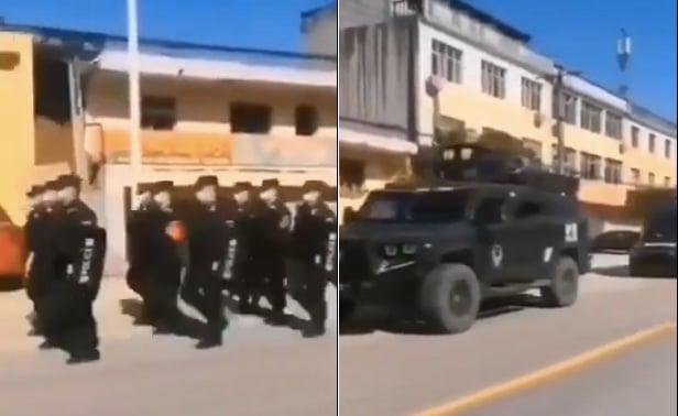 影片:軍人喊口號巡邏 湖北籍專用廁所出現