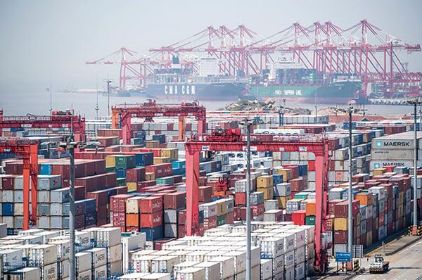 中美貿易戰升級,美國5月10日正式對總值2,000億美元中國進口貨加徵關稅。(AFP)