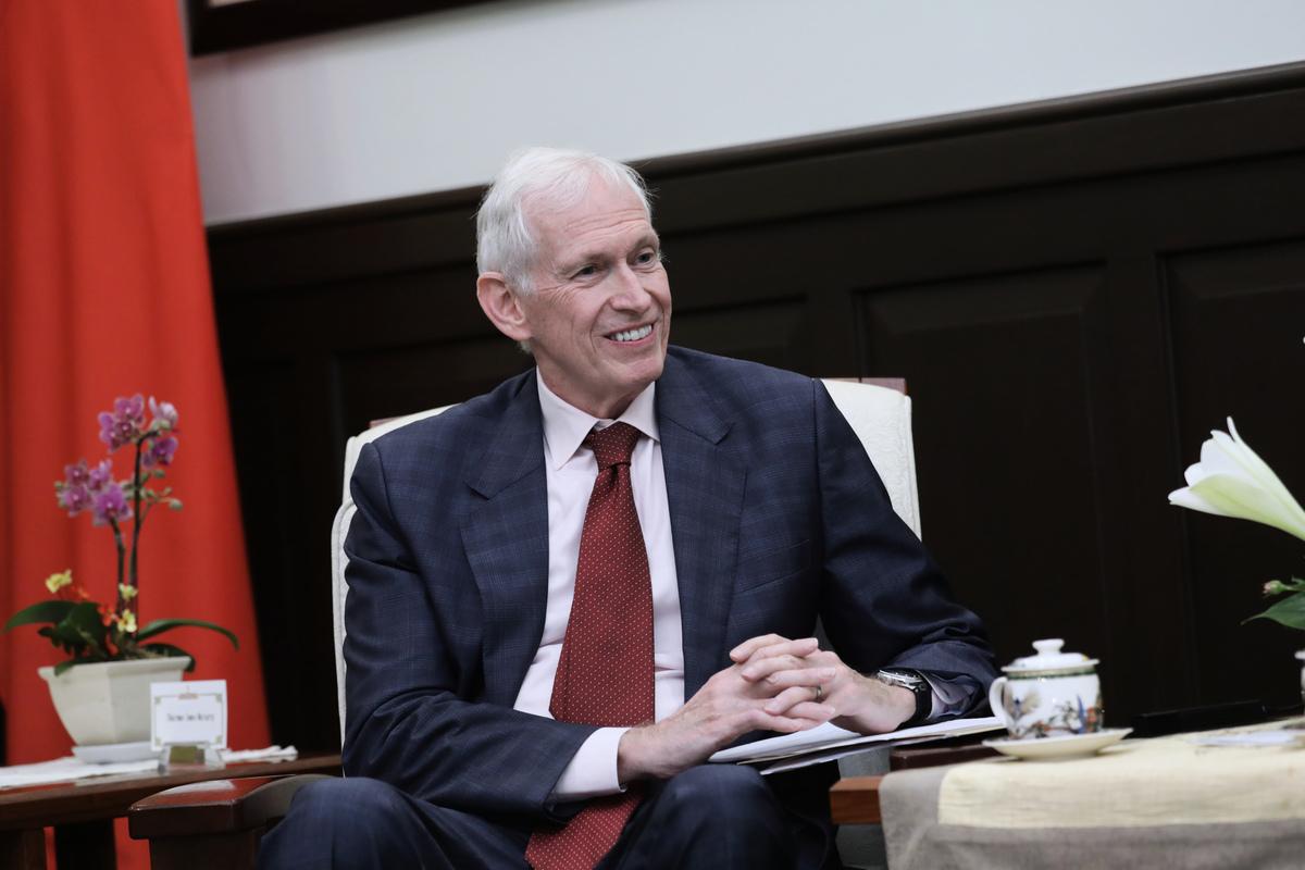 美國在台協會(AIT)主席莫健表示,過去一年,中共的野心對美國與其盟友和合作夥伴,特別是台灣,所構成的威脅日益明確。圖為資料照。(中華民國總統府提供)