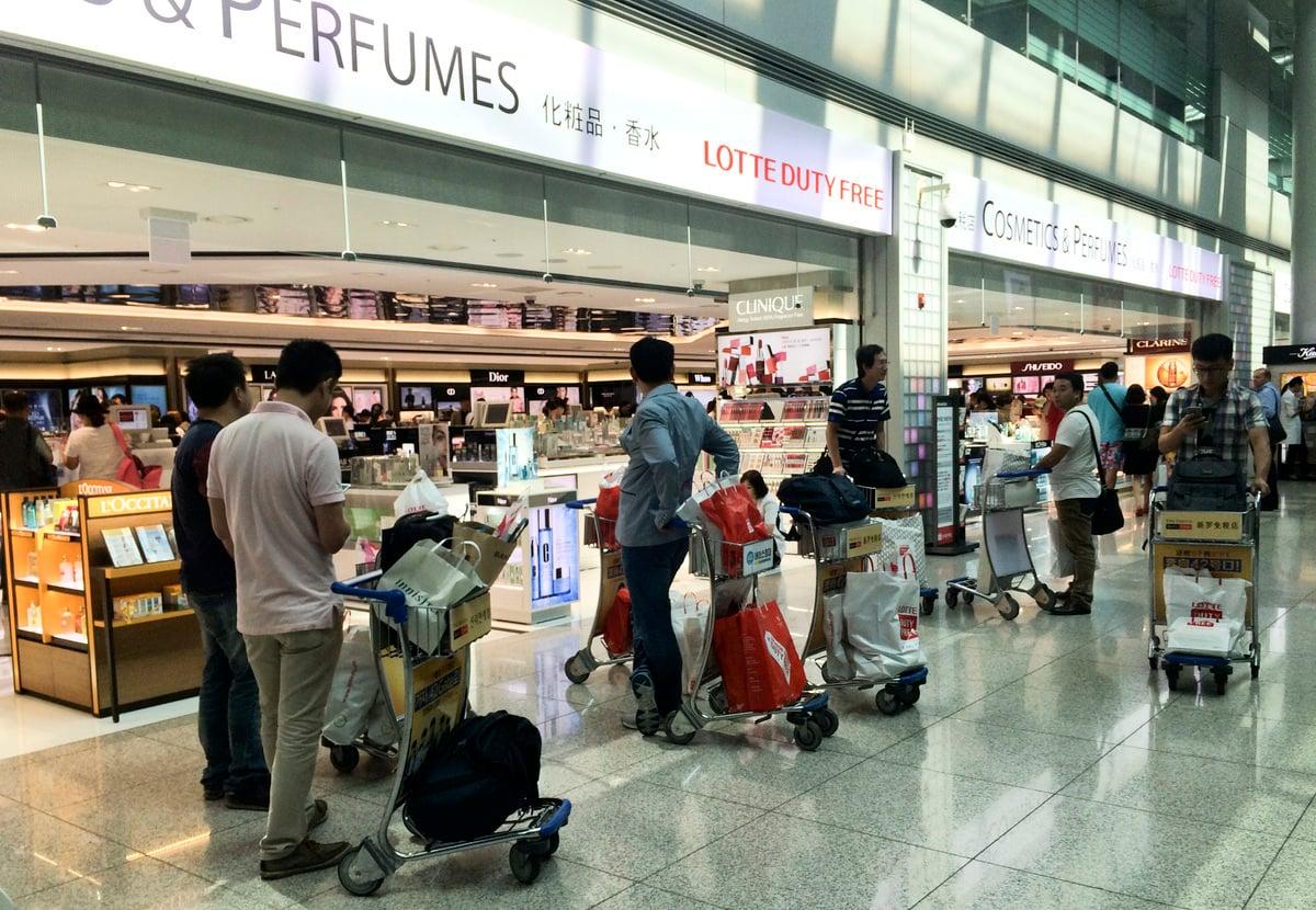圖為仁川機場的一處免稅店。(大紀元資料室)