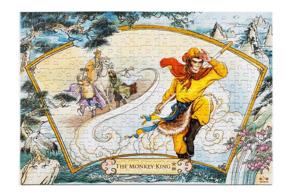 《西遊記》中的孫悟空和唐僧,豬八戒和沙和尚形象。(神韻藝術團提供)