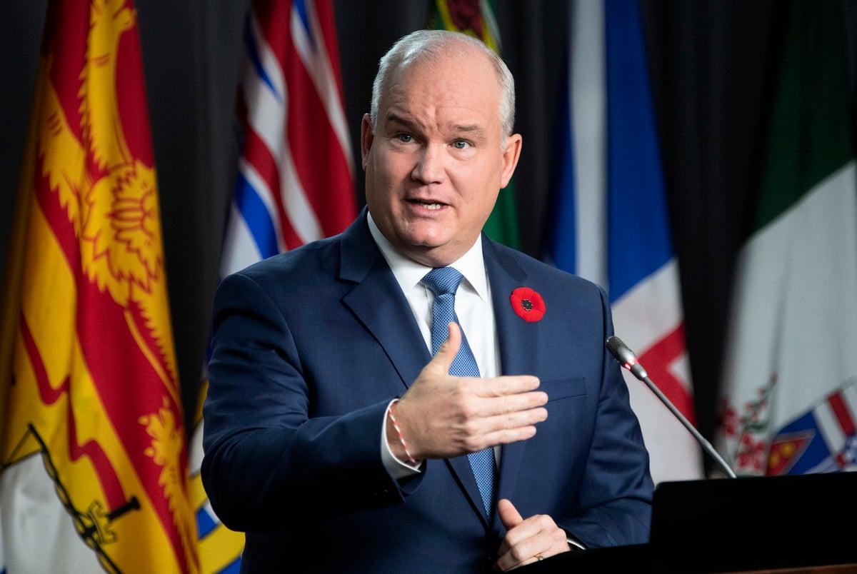 面對不斷加劇的亞裔仇恨,加拿大保守黨領袖奧圖爾(Erin O'Toole)發表聲明,以支持亞洲社區,特別是加拿大的華人社區。(Adrian Wyld/加通社)