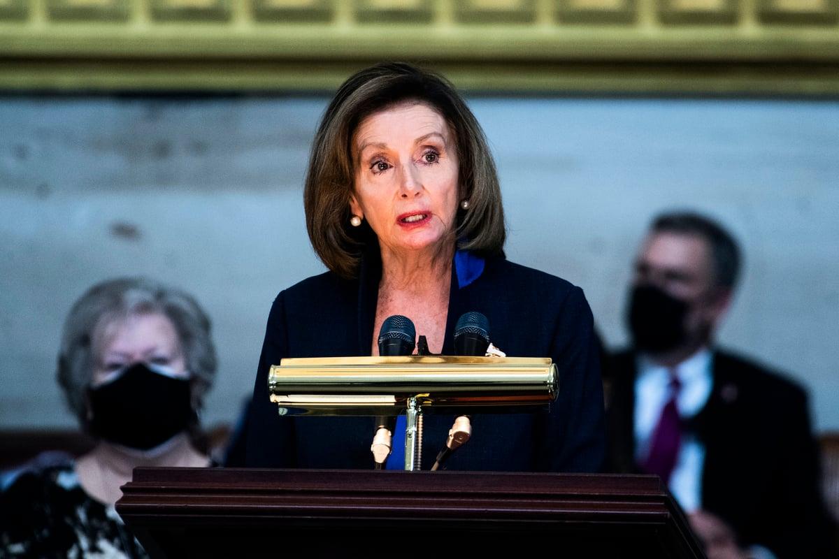 美國眾議院議長佩洛西(Nancy Pelosi)。 (Tom Williams-Pool/Getty Images)