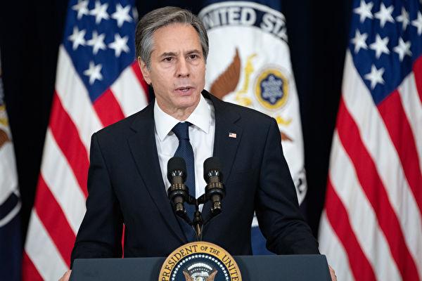 在3月10日的國會眾議院外交事務委員會的聽證會上,美國國務卿安東尼·布林肯(Antony Blinken)表示,美方將在18日的中、美外交官會晤上以「坦率的」方式向北京闡述關切問題。 (Ken Cedeno-Pool/Getty Images)