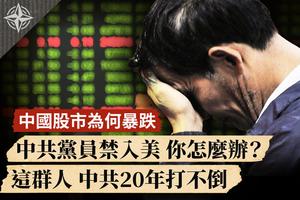 【十字路口】中國股市為何暴跌 中共黨員禁入美