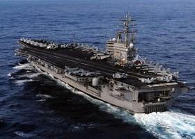 美海軍:列根號航母打擊群入南海執行任務