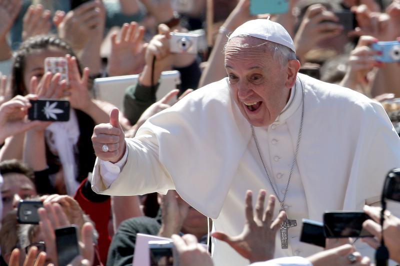 2021年7月4日,羅馬教宗方濟各住院,將進行腸道手術。方濟各資料照。(Franco Origlia/Getty Images)