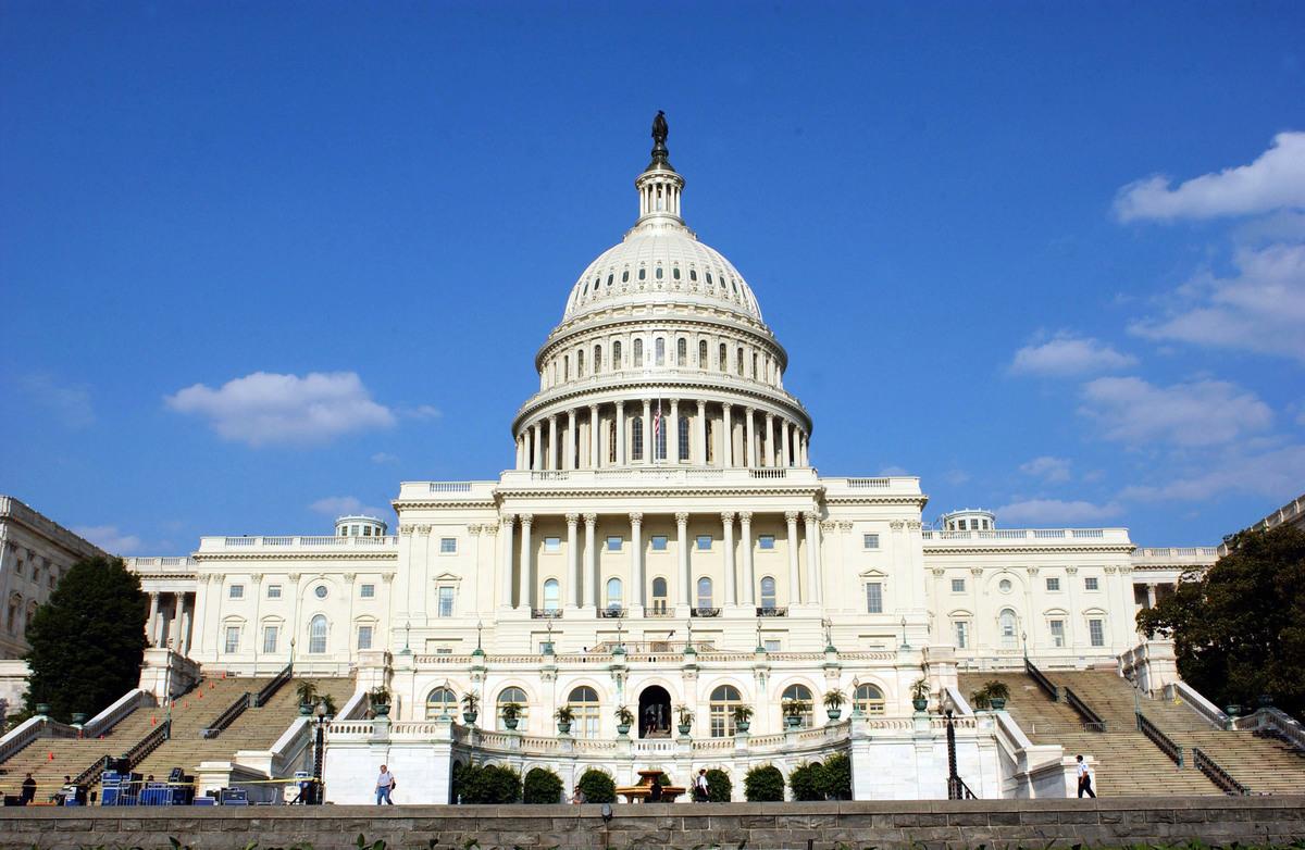 圖為美國國會大廈。(Stefan Zaklin/Getty Images)