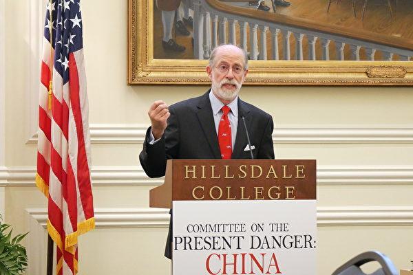 美國智囊機構「安全政策中心(Center for Security Policy)」的創始人兼主席、「應對中共當前危險委員會」(CPDC)的副主席蓋夫尼(Frank Gaffney)(李辰/大紀元)