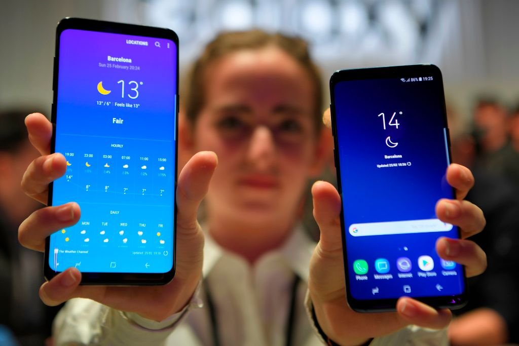 三星Galaxy S9不是三星智能手機的最新款,但它仍然是最好的一款。(LLUIS GENE/AFP/Getty Images)