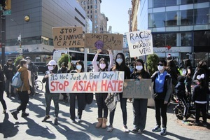 採訪反仇恨集會組織者 華裔記者微信群遭罵