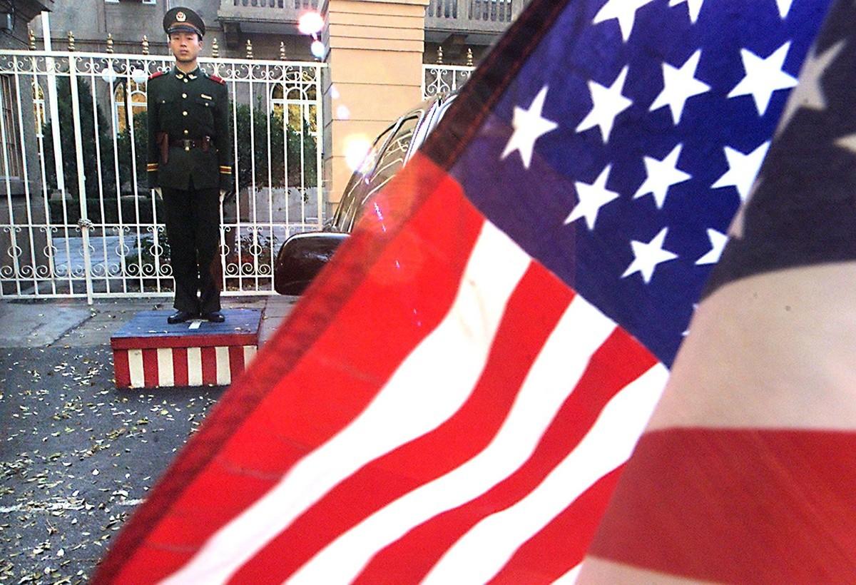 對中美關係來說,2019年是充滿挑戰和對抗的一年。過去一年中,美國特朗普政府全方位向中共出擊,連發九記重錘,重挫中共霸凌氣焰,成功阻止中共在海外擴張野心。 (STEPHEN SHAVER/AFP/Getty Images)