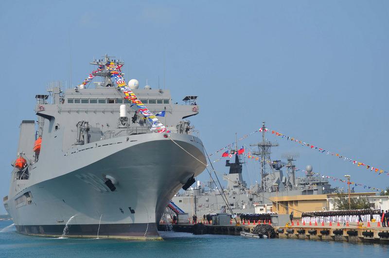 圖為台灣海軍敦睦艦隊。(中央社)