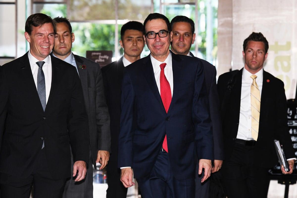 中美貿易代表5月1日結束了在北京舉行的貿易談判。(GREG BAKER / AFP)