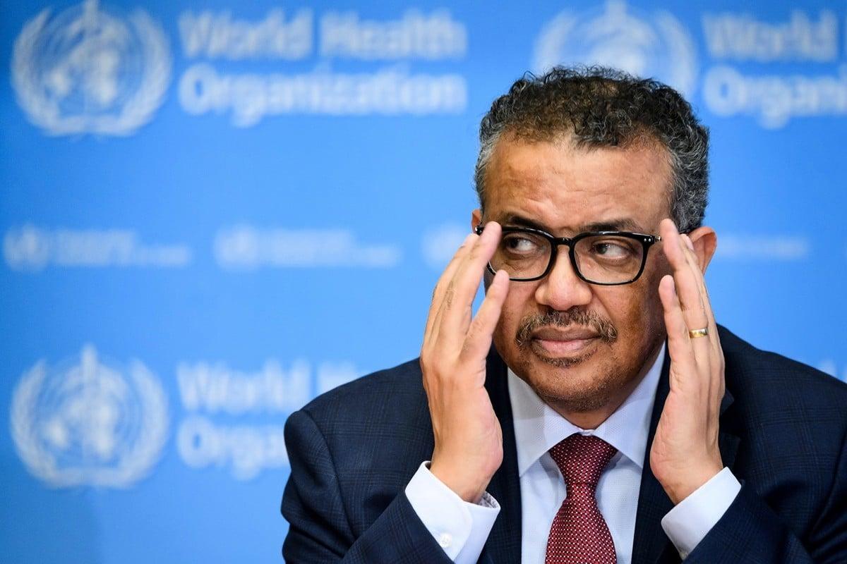 世衛組織因附和中共政府說辭、應對中共病毒疫情不力而受到越來越多質疑與批評。圖為世衛總幹事譚德塞資料照。(FABRICE COFFRINI/AFP)