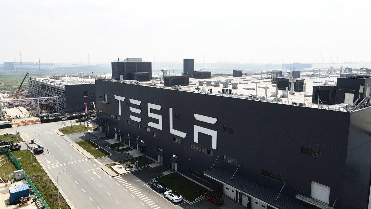 今年3月上海Tesla超級工廠的鳥瞰圖(Xiaolu Chu/Getty Images)