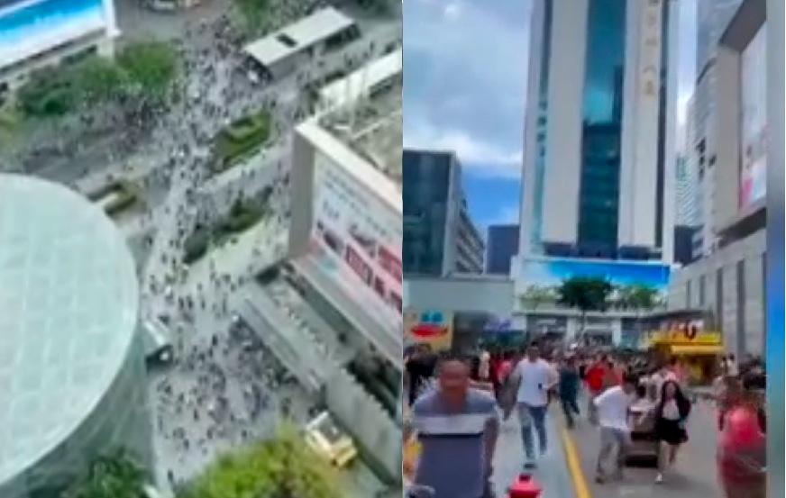 【更新】深圳福田300米高樓忽搖晃 上萬人逃離(影片)