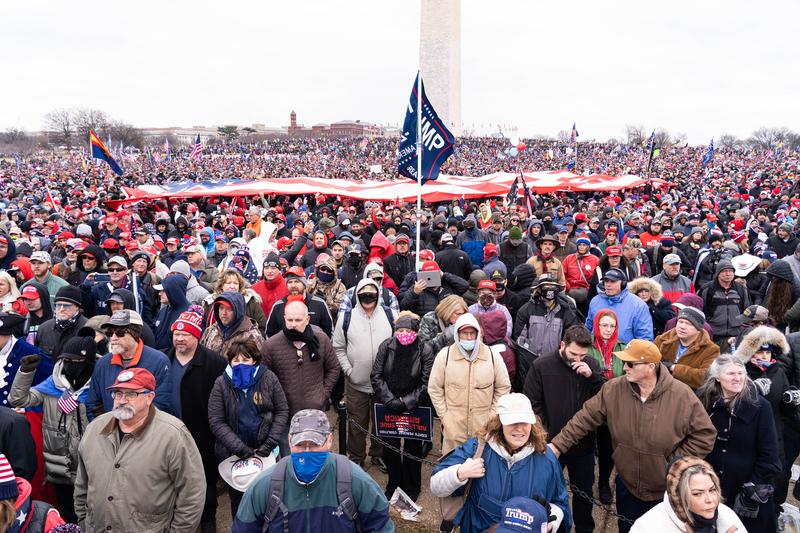 2021年1月6日,美國首都華盛頓DC舉辦「拯救美國」集會,特朗普總統現身發表演講。(戴兵/大紀元)