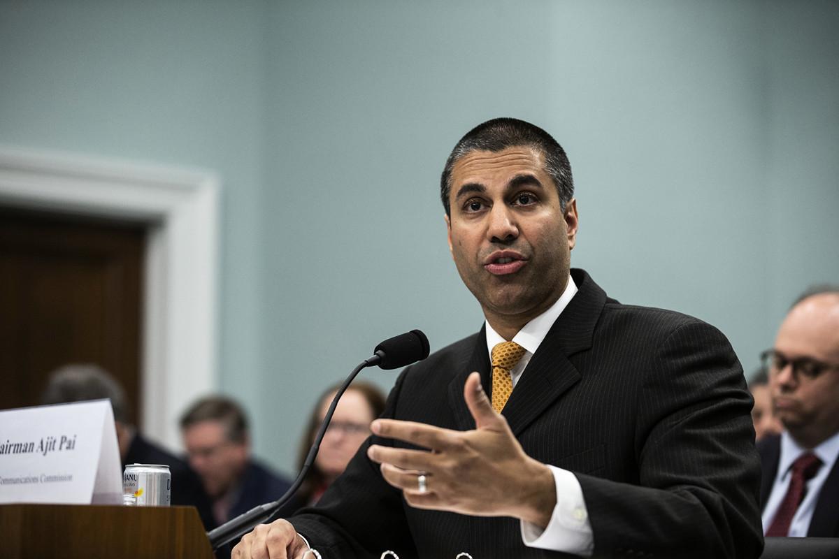 美國聯邦通信委員會(Federal Communications Commission,簡稱FCC)主席阿吉特·派(Ajit Pai)。(Alex Edelman/Getty Images)