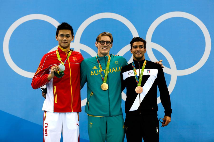 男子400米自由泳 孫揚不敵澳洲新星衛冕失敗