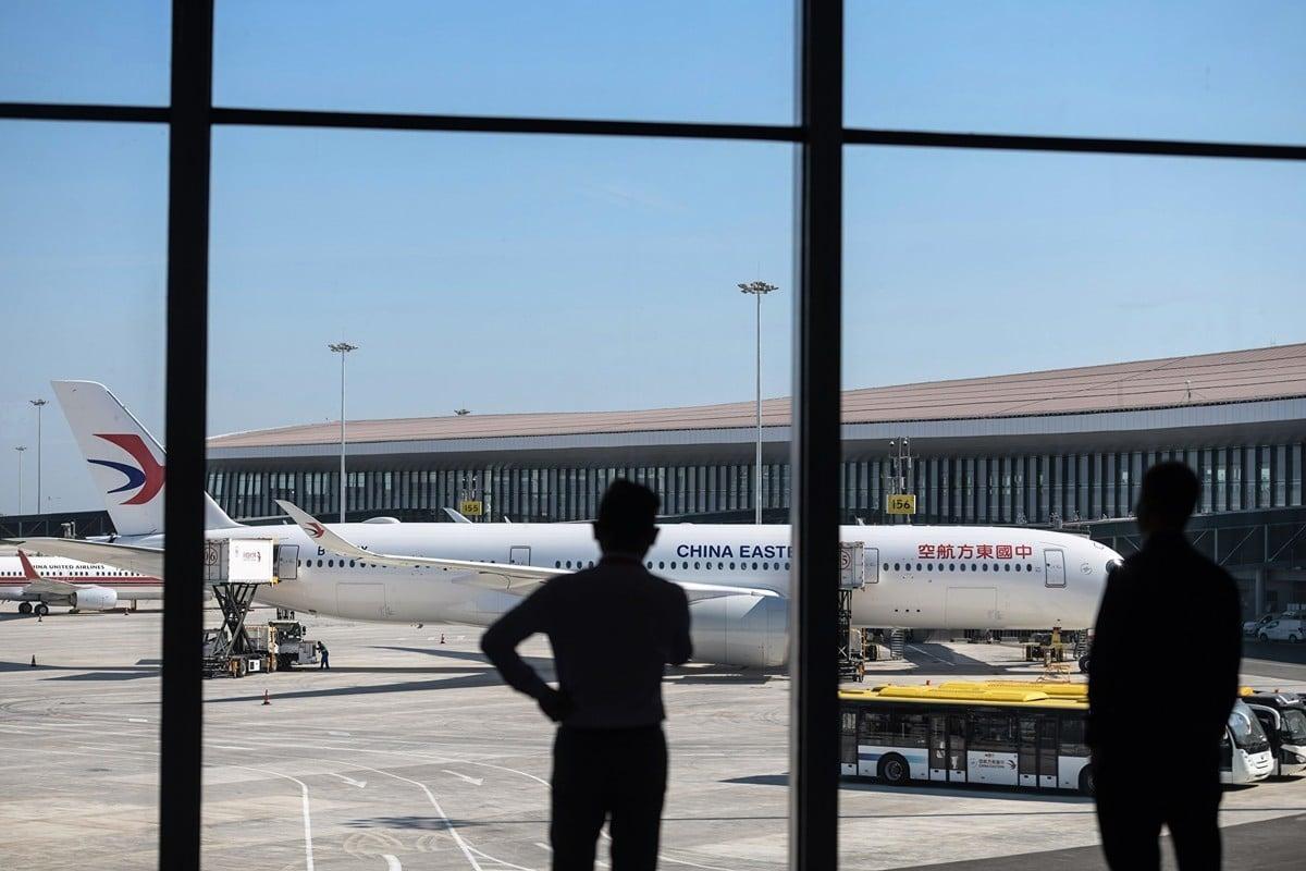 受中共病毒衝擊,大陸航空業今年第一季度損失慘重,全行業累計虧損398.2億元。圖為示意圖。(STR/AFP via Getty Images)