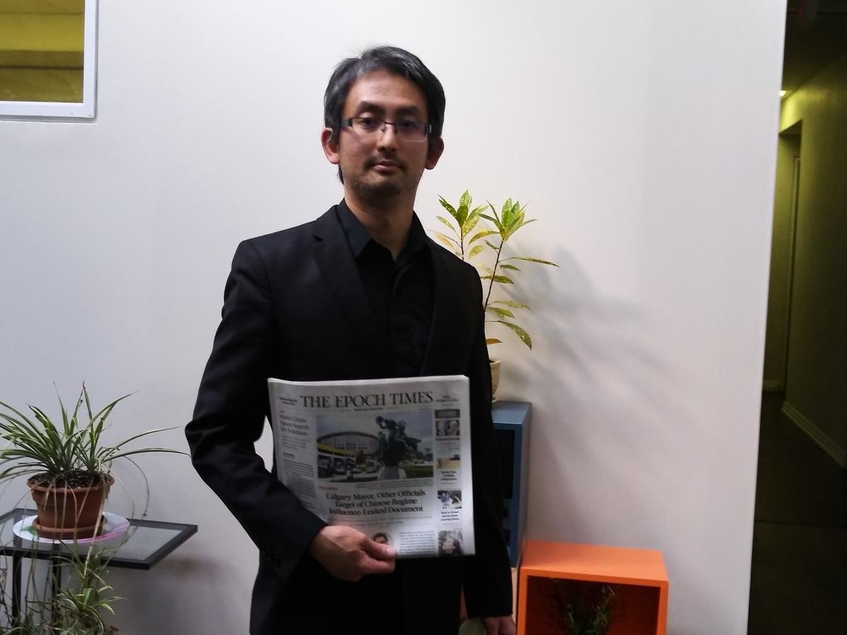 自從去年反送中運動爆發以來,蔡維紀除了參加多倫多當地的聲援香港反送中集會遊行活動,也開始作畫、作曲來表達對香港的支持。(伊鈴/大紀元)