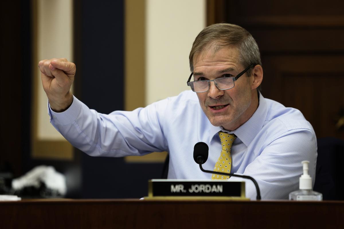 美國聯邦共和黨眾議員喬丹資料照。(Graeme Jennings - Pool/Getty Images)