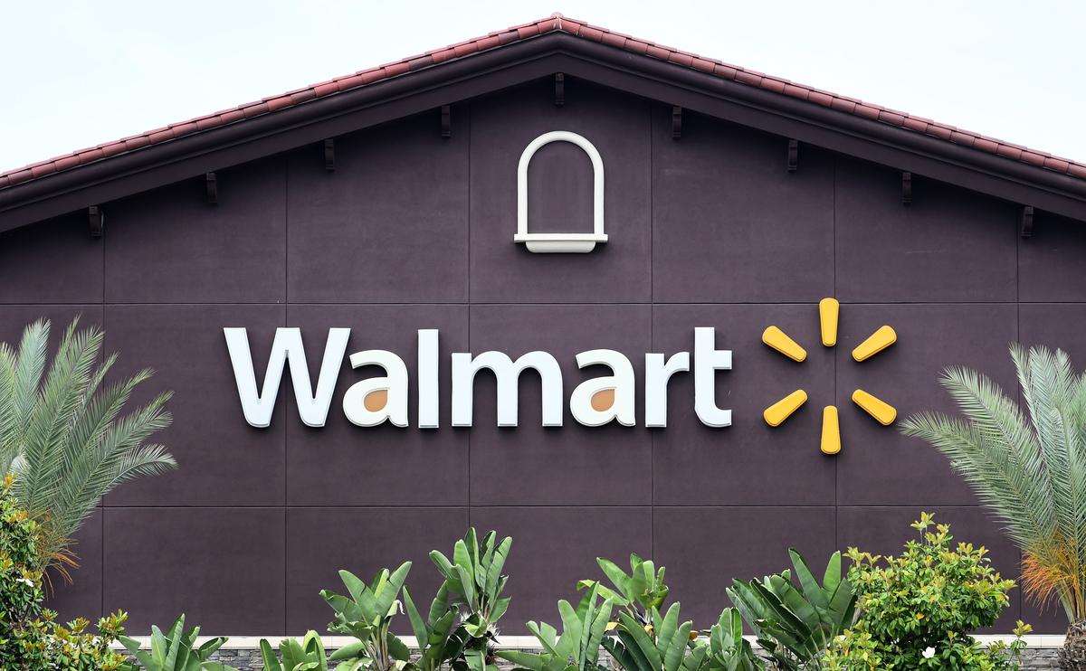 圖為Walmart商標。 (Frederic J. BROWN / AFP)