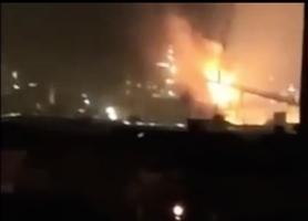 江蘇工廠大火 上海寶鋼廠區高爐爆炸