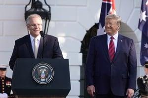 美澳元首記者會 特朗普解釋三種貿易戰傳言