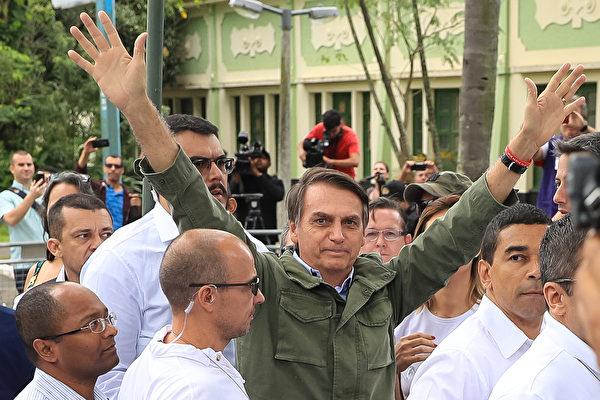 10月28日巴西舉行總統大選,投票結果顯示,巴西右翼總統候選人波索納洛(Jair Bolsonaro)贏得大選。(Buda Mendes/Getty Images)